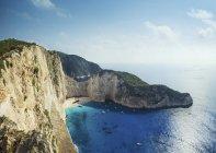Vista panoramica della baia di Shipwreck, Zante, Grecia — Foto stock