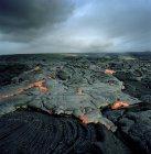 Fluxo de lava no vulcão ativo no Havaí — Fotografia de Stock