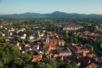 Vista de ciudad arbolada - foto de stock