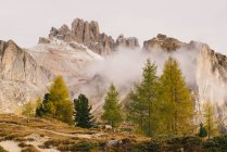 Vista panorâmica do Monte Lagazuoi, Alpes Dolomitas, Tirol do Sul, Itália — Fotografia de Stock