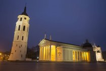 Vilnius Cathedral at night — Stock Photo