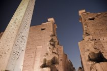 Low angle view of Obelisk at Karnak Temple, Egypt — Stock Photo