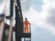 Kohle-Arbeiter auf Aussichtsplattform — Stockfoto