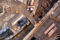 Baustelle mit Arbeitnehmern — Stockfoto