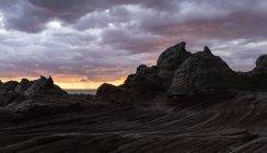 Scenic view of White Pocket at sunset, Paria Plateau, Arizona, USA — Stock Photo