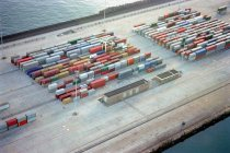 Ship containers at port — Stock Photo