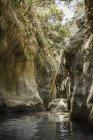 Красиві мальовничим видом з Potami водоспадів Самос, Греція — стокове фото