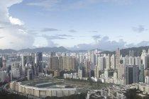 Luftaufnahme der Stadt Hongkong, China — Stockfoto