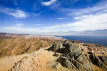 Eilat mountain range with The gulf of Aqaba in background, Israel — Stock Photo