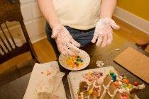 Immagine potata della torta di cottura della donna — Foto stock