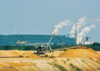 Extraction de lignite — Photo de stock