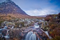 Buachaille Etive Mor and River Coupall in Scotland — Stock Photo