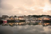 View of Padstow at sunset — Stock Photo