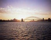 Закат над Сиднейской гавани — стоковое фото