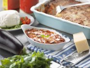 Traditional Italian meal of Melanzane alla Parmigiana — Stock Photo