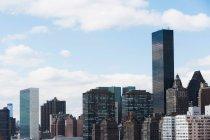 Trump Towers and Manhattan skyline — Stock Photo