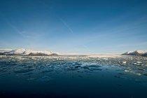 Lago del ghiacciaio, Jokulsa Loni, Islanda — Foto stock