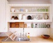 View of equipment of modern kitchen — Stock Photo