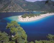 Vista da lagoa azul, Oludeniz, Anatólia, Turquia — Fotografia de Stock