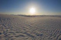 New mexico white sands illuminated with sunlight — Stock Photo