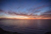 Pôr do sol sobre o oceano, San Diego, Califórnia, EUA — Fotografia de Stock