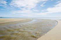 Vue panoramique sur la plage de Ahipara, Northland, Nouvelle-Zélande — Photo de stock