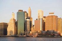 Далеких вид на Нью-Йорк на заході, США — стокове фото