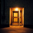 Front view of Apartment block doorway — Stock Photo