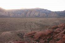 Red Rock Canyon, no pôr do sol, Nevada, EUA — Fotografia de Stock
