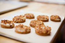 Chiuda sul colpo di biscotti appena sfornati — Foto stock