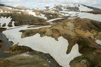 Vue aérienne du volcan Hekla, Islande — Photo de stock