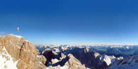 View from Mount Zugspitze in a south-easterly direction, Germany and Austria — Stock Photo
