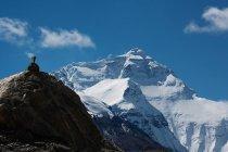 Vista panoramica della statua sul Monte Everest — Foto stock