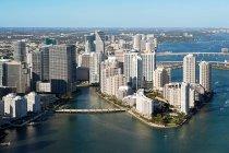 Luftaufnahme der Innenstadt von Miami, Vereinigte Staaten von Amerika — Stockfoto