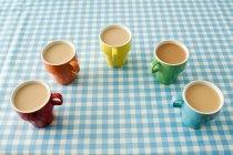Fünf Tassen Kaffee — Stockfoto