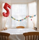 Room decorated for birthday — Stock Photo