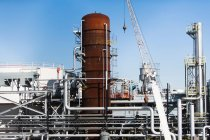 Observing view of Storage tanks of oil refinery — Stock Photo