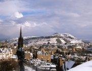 Старый город Эдинбург из Эдинбурга, Шотландия — стоковое фото