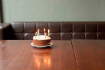 Birthday cake on table — Stock Photo