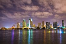 Downtown San Diego at night — Stock Photo