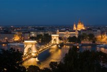 Szechenyi Lanchid Budapest - foto de stock