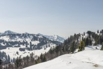 Snow covered view of Zwolferhorn, St Gilgen, Austria — Stock Photo