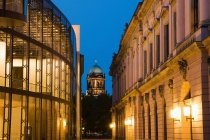 Berliner Dom and Museum Island at night, Berlin, Germany — Stock Photo