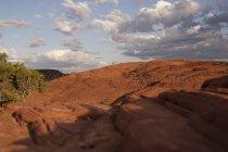 Ansicht der versteinerten Dünen, Snow Canyon State Park, Utah, Usa — Stockfoto