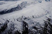 Luftaufnahme einer verschneiten Landschaft, Argentinien — Stockfoto
