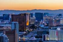 Aerial view of Strip at night, Las Vegas, Nevada, USA — Stock Photo