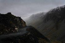 Misty mountain, Lake District, Cumbria, England, UK — Stock Photo