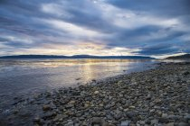 Sunset over the Beagle Channel, Tierra del Fuego, Argentina — Stock Photo