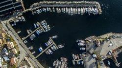 Vista aérea del puerto, Drobak, Noruega - foto de stock