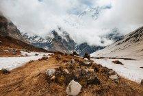 Scenic view of ABC trek, Annapurna Base Camp trek, Nepal — Stock Photo